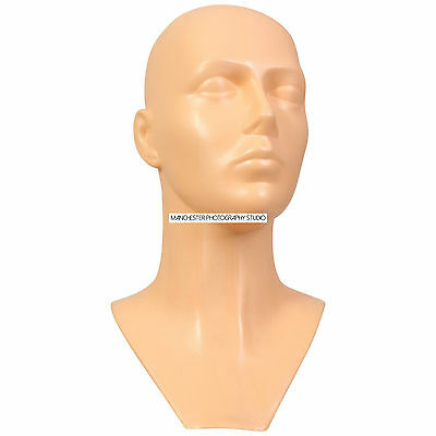 Flesh Hard Plastic Mannequin Display Head Dummy Ideal For Hats Wigs Glasses