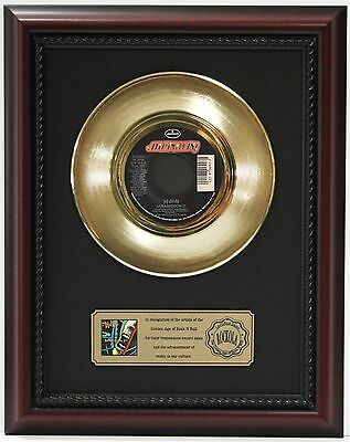 "Def Leppard Armageddon It Gold Record Custom Framed Cherrywood Display ""k1"""