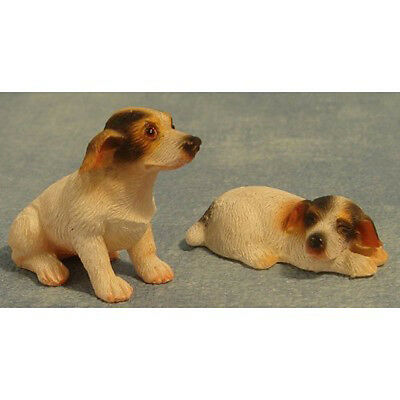 Streets Ahead 1/12th Scale Dolls House Miniatures Two Jack Russel Dogs DA009 New