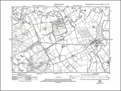 Old map of Chatton, Northumberland in 1925: 16SE repro