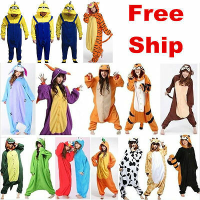 .New Adulte kigurumi Anime cosplay costume animal Onesie Pyjamas sleepwear Suit