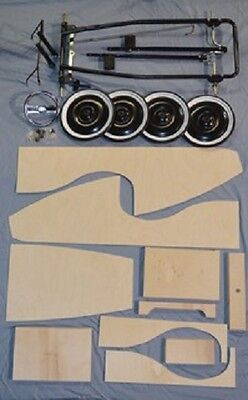 Wooden Pedal Car Kit With Chassis