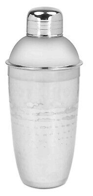 Home Basics NEW Heavy Duty Hammered Silver 750 ml Bar Cocktail Shaker -  CS44570