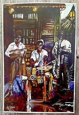 """""""Cigar Box Spasm Band"""" Limited Edition Signed & Numbered Print by Amzie Adams"""