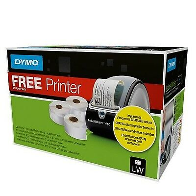 Dymo 1896042 Labelwriter 450 with Assorted Label - Black Roll of 3 Dymo