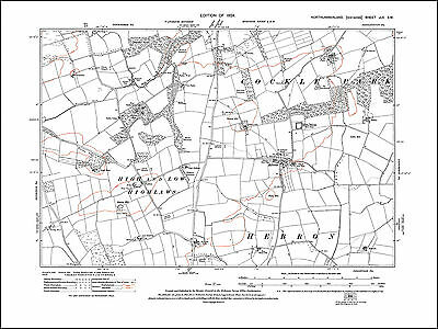 North Seaton Old map of Ashington Hirst Northumberland in 1924: 70NW repro