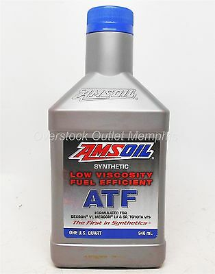 AMSOIL 30001 Low Viscosity Fuel Efficient Synthetic ATF one quart