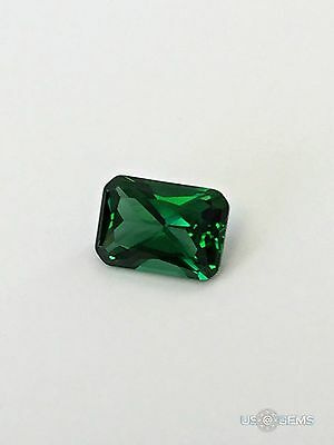 Emerald #M2486. Princess cut 7x5 mm 1 Ct. Created Monosital Gemstone. US@GEMS