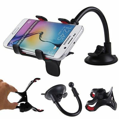 Universal 360°Rotating Car Windshield Mount Holder Stand For Mobile Phone GPS