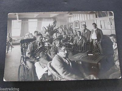 WW1 Soldiers Convalescing Postcard