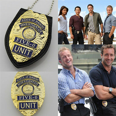 Hawaii Five-0 Badge Hawaii 5 o Badge & Chain Belt leather badge holder 1PCS