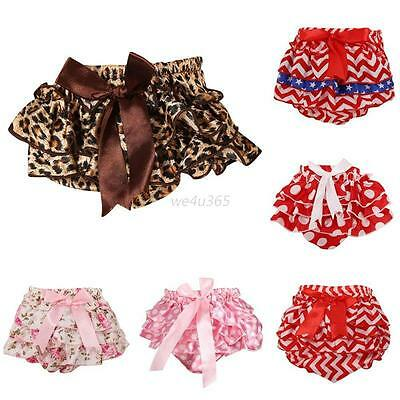 Cute Toddler Baby Girls Ruffle PP Pants Shorts Diaper Nappy Bloomers Skirts 1-3Y