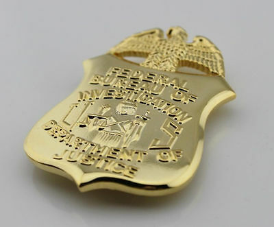 US FBI RETIRED BADGE MONEY CLIP DEPARTMENT OF JUSTICE RETIRED BADGE CLIP Newly