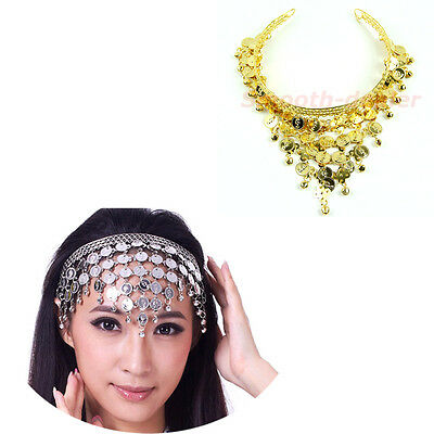 Stylish Belly Dance Costume Dancing Coin Sequins Pendant Hair Band Headbands