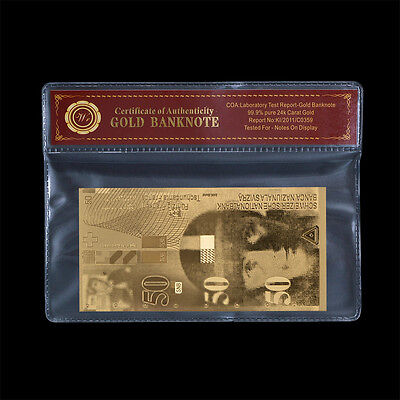 SWITZERLAND Franc Banknote 50 Swiss Franc 24k Pure Gold Note New In Mylar Sleeve