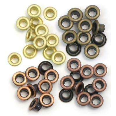 crop a dile 3/16 inch 0.5cm  eyelets 60 mixed  WARM metals COPPER GOLD ETC