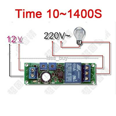 DC 12V Infinite Cycle Delay Timing Timer Relay ON OFF Loop Module Time 10~1400S