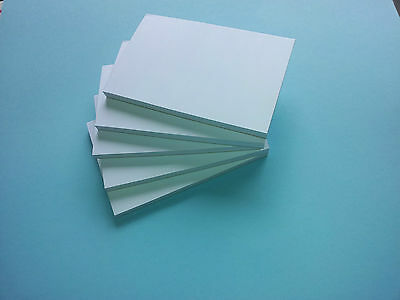 5 X A5 Paper Plain White Mini Jotter / Notepads / Pads