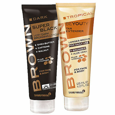 "Tannymaxx Brown ""Super Black Dark Bronzing + Tropical Beyouty After Sun"" 125 ml"