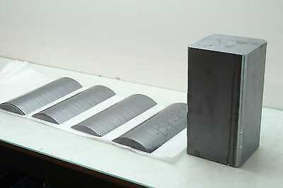 "Silicon Block Ingot Cylinder Boule 8"" Diameter x 12"" Long Wire Saw Test Samples"