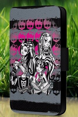 Monster High Fashion Doll Ink Tattooed Faux Leather Flip Phone Case Cover L222