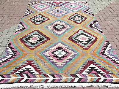 "Vintage Anatolia Turkish Antalya Barak Kilim 68,1""x100,3"" Area Rug,Floor Carpet"