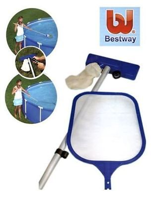 Bestway 80 inch Pool Maintenance Kit Cleaning Vacuum Net Swimming