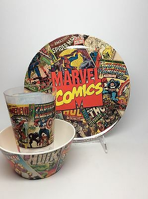 Marvel Plate, Bowl & Cup Set