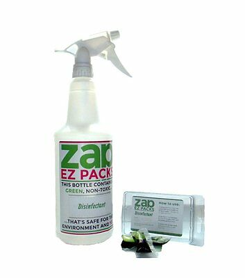 EZ ZAP Disinfectant (96 oz) GREEN, ECO Friendly MUST SEE! Made in the USA