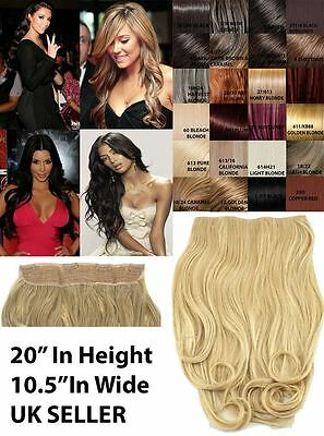 "Celebrity Clip In 10.5"" One Piece Weft Wide Curly Hair Extension Set Hairpiece"