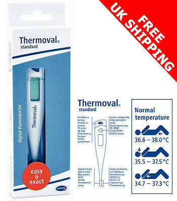 Digital Thermometer Thermoval Standard  Hartmann - CE - FREE SHIPPING - NEW