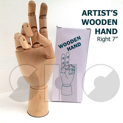 """Artist's 7"""" Hand Traditional Wooden model -with moveable joints"""