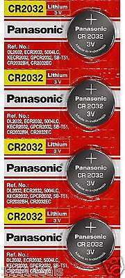 4 x SUPER FRESH Panasonic ECR2032 CR2032 Lithium Battery 3V Coin Cell Exp. 2028