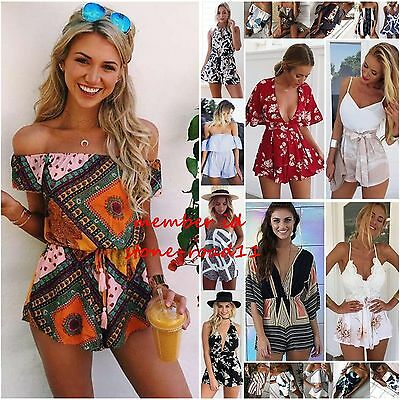 Womens Holiday Mini Playsuit Lace Jumpsuit Party Cocktail Summer Beach Dress Lot
