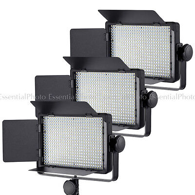 3x LECO500 Luces Video Panel LED Regulable Control Entrevista Remoto