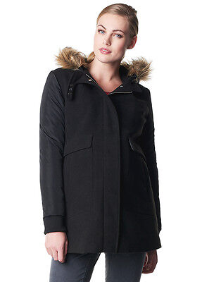 NEW - Noppies - Ammy Faux Fur Trim Maternity Jacket