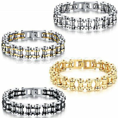 Fashion Motorcycle Bike Chain Design Stainless Steel Bracelet Link Men's Jewelry