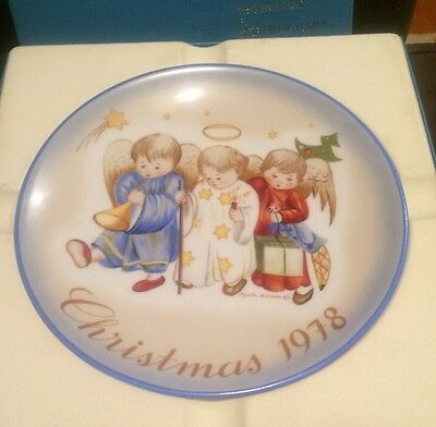 Collectible Plate 1978 Christmas Gift Heavenly Trio By Sister Berta Hummel