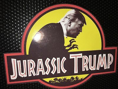 Donald Trump President '16 Jurassic Park Parody Joke-HIGH QUALITY DECAL 2.5X3.5""