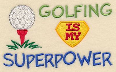 Golfing personalised bath towel