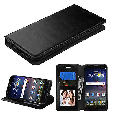 New For Samsung Galaxy Note 5 Luxury Case Cover Leather Flip Wallet Stand BLACK
