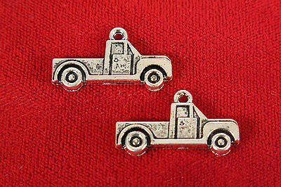 10 pc beautiful large antique style silver truck charms (BC21)
