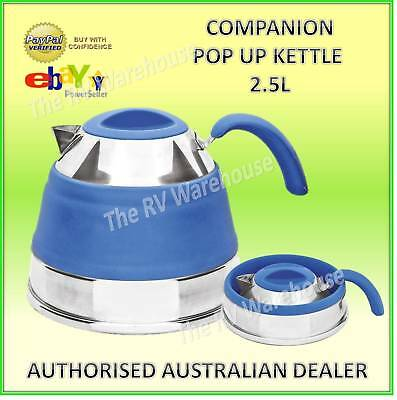 2.5L Pop Up Kettle Blue Companion Collapsible New Camping Caravan Boat Kitchen
