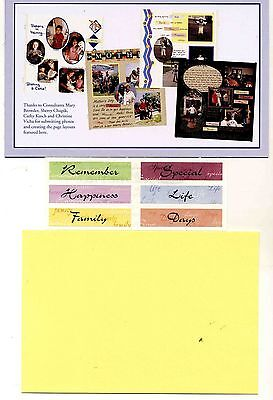 Creative Memories Tty Words Page Completion Kit Bnip