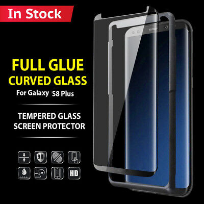 Samsung Galaxy S6 Edge Curved Full Glass Tempered 3D Screen Protector Case Black