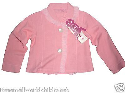 girls pink cotton JACKET by BEETLEJUICE ruffle trim 6Y (116cm) BNWT