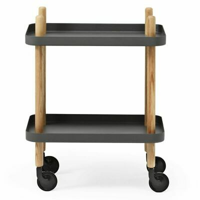 Normann Copenhagen Servierwagen Block Table, dunkelgrau
