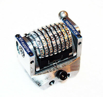 """3/16"""" Rotary 8 Digit Convex Backwards Numbering Machine for Morgana Standard"""