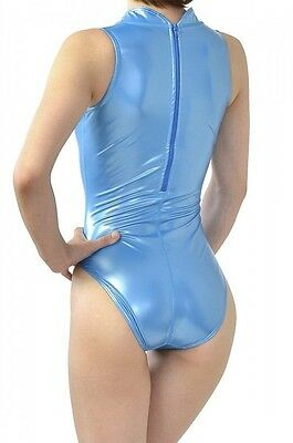 NEW REALISE N-007SH Normal back high neck swimsuit rubber Blue L JAPAN F/S S0042