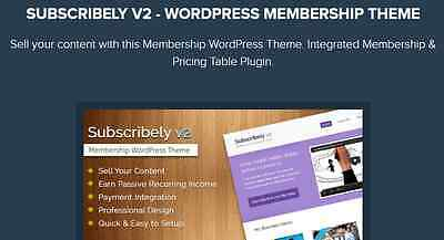 Subscribely V2 - Wordpress Membership Theme